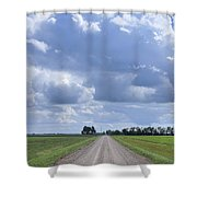 Landscape With Road Shower Curtain