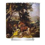 Landscape With The Ministry Of John The Baptist Shower Curtain
