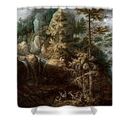 Landscape With The Temptation Of Saint Anthony Shower Curtain