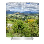 Landscape With Winding Road Shower Curtain