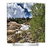 Alluvial Fan Colorado Shower Curtain