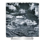 Land Shapes 28 Shower Curtain by Priska Wettstein
