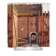 Landskrona Citadel In Sweden Shower Curtain