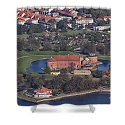 Landskrona Citadel Photographed From The Air Shower Curtain