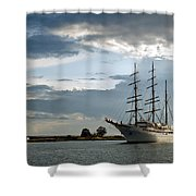 Landskrona Se Sea Cloud II 03 Shower Curtain