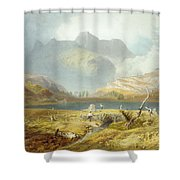 Langdale Pikes, From The English Lake Shower Curtain