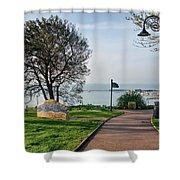 Langmoor-lister Gardens -- Lyme Regis Shower Curtain