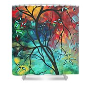 Languishing In The Breeze Original Art Madart Shower Curtain