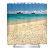 Lanikai Beach 2 - Oahu Hawaii Shower Curtain