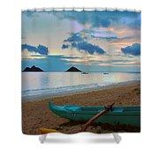 Lanikai Beach Sunrise 6 - Kailua Oahu Hawaii Shower Curtain