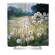 Lanscape With Blow-balls Shower Curtain