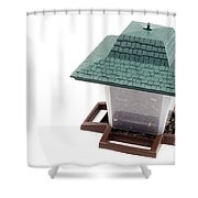 Lantern Bird Feeder Shower Curtain