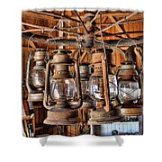 Lantern Chandelier Shower Curtain