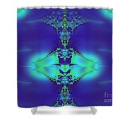 Lantern Of Sapphire Shower Curtain