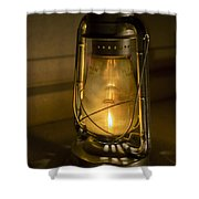 Lantern On Granite Shower Curtain