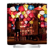 Lantern Stall 01 Shower Curtain