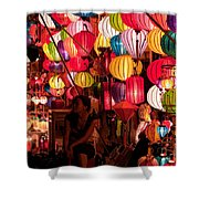 Lantern Stall 02 Shower Curtain