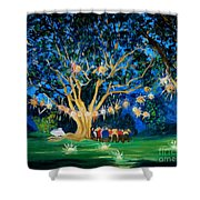 Lantern Tree Shower Curtain