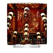 Lanterns And Dragons Shower Curtain