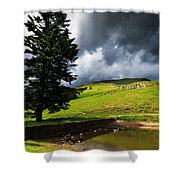 Lanty's Tarn On A Stormy Afternoon Shower Curtain