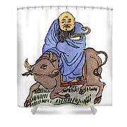 Lao-tzu (c604-531 B Shower Curtain