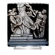 Laocoon And The Snake Shower Curtain