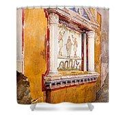 Lararium Of Family Altar, Seen In Situ Shower Curtain