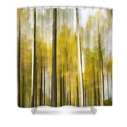 Larch Grove Blurred Shower Curtain