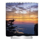 Larch Mountain Sunset Shower Curtain