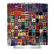 Larg Blocks Digital - Various Colors I Shower Curtain