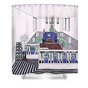 Large Balconied Reception Room Shower Curtain