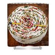 Large Ball Of Colorful Yarn Shower Curtain