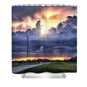 Large Cloud Shower Curtain