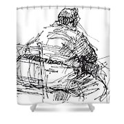Large Guy Shower Curtain