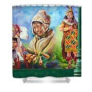 Large Mural In Cusco Peru Part 4 Shower Curtain