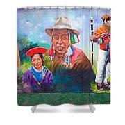 Large Mural In Cusco Peru Part 6 Shower Curtain