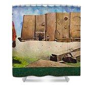 Large Mural In Cusco Peru Part 7 Shower Curtain