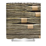 Large Stack Of American Cash Money Shower Curtain