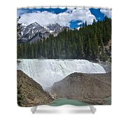 Larger View Of Wapta Falls In Yoho Np-bc Shower Curtain