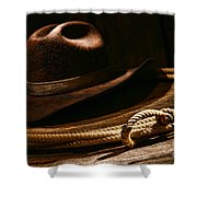 Lariat And Hat Shower Curtain