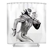 Larry Fitzgerald Fitz Shower Curtain by Devin Millington