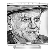 Larry Hagman In 2011 Shower Curtain