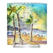 Las Canteras Beach In Las Palmas De Gran Canaria Shower Curtain