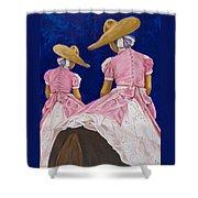 Las Charras Rosadas Shower Curtain