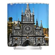 Las Lajas Front Shower Curtain