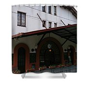 Las Planas Train Station Shower Curtain