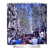 Las Ramblas - Barcelona Spain Shower Curtain