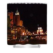 Las Vegas At Midnight Shower Curtain