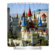 Las Vegas - Excalibur Hotel Shower Curtain