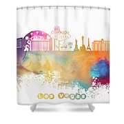 Las Vegas Nevada Skyline  Shower Curtain